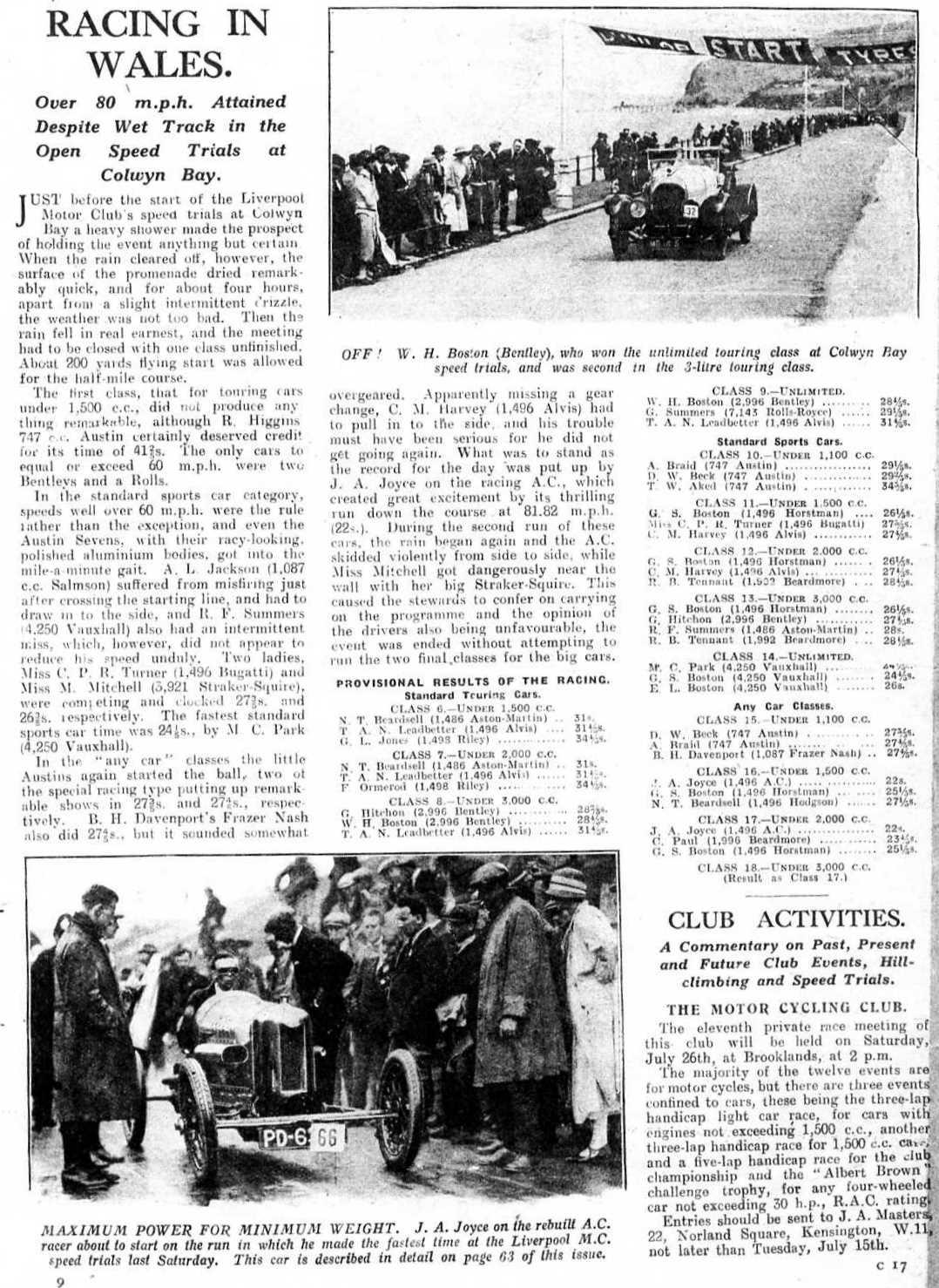 Club History :: Liverpool Motor Club