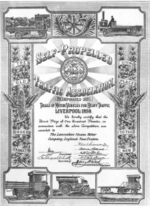 Self Propelled Traffic Association Certificate