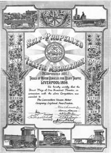 Self Propelled Traffic Association Certificate